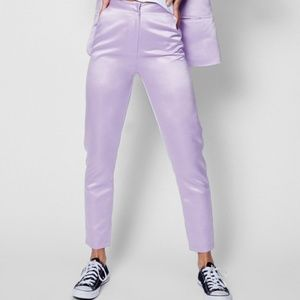 Lilac Purple Satin Purple Womens Suit Pants NEW